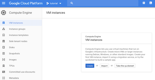 Creating a VM Instance in Google Compute Engine
