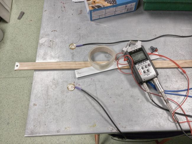 Impedance Matching A/B Contact Mic Testing with Twangers and Sellotape