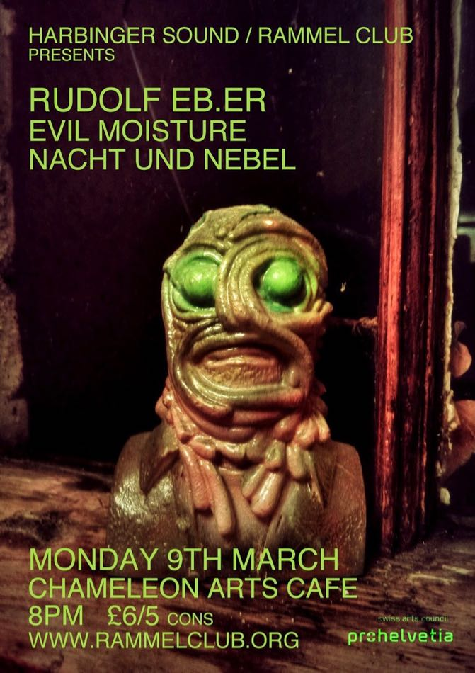 Facemelt resin cast by Ian Watson, Poster/Flyer by Murray Royston-Ward