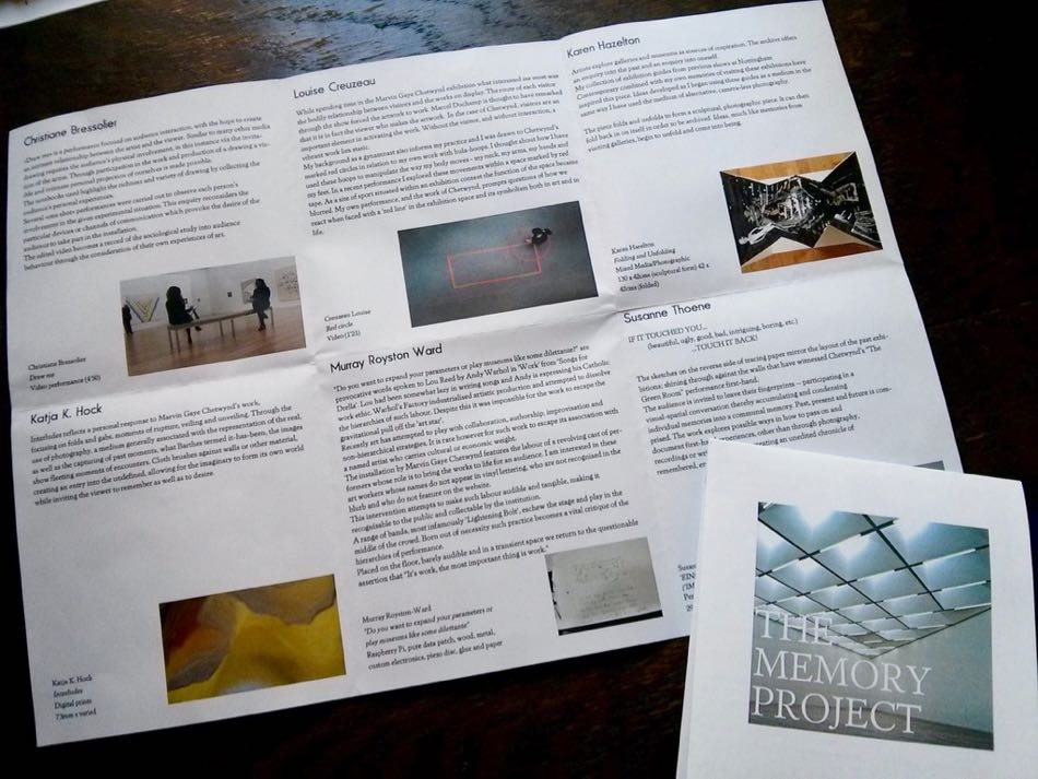 The Memory Project - Flyer