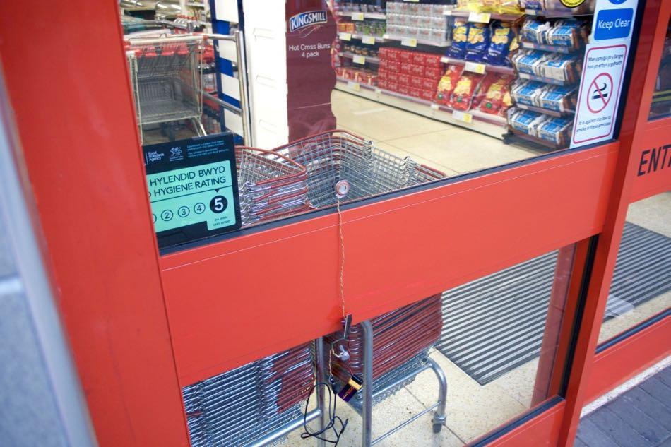 Temporary Installation, Albany Road Iceland, Cardiff